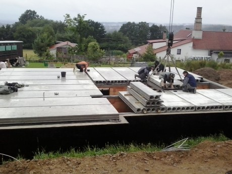 Stropy Spiroll betonové předpjaté
